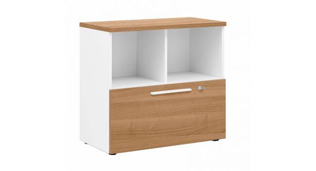 Rangement bas mobilier de bureau contemporain yes! et xerus