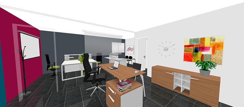 Deux programmes d 39 agencement 3d gautier office for Free 3d office planner